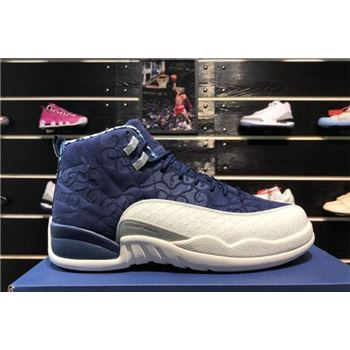 Air Jordan 12 International Flight College Navy/Sail-University Red 130690-445
