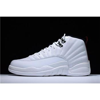 New Air Jordan 12 Retro Rising Sun White/Varsity Red-Black 130690-163