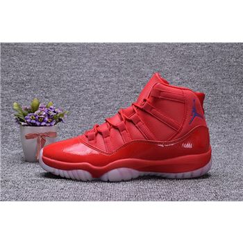 Chris Paul Air Jordan 11 Clippers PE Red Blue Shoes
