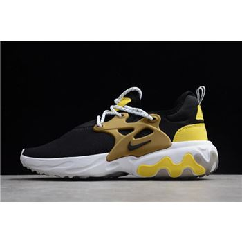 Nike Presto React Black/Yellow/White/Metallic Gold Running Shoes AV2605-001