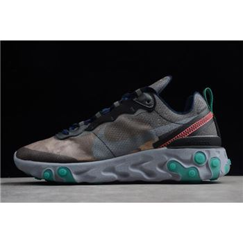 Nike Epic React Element 87 Black/Neptune Green-Bright Mango-Midnight Navy AQ1090-005