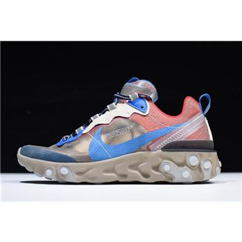 Undercover x Nike React Element 87 Light Beige Chalk/Signal Blue BQ2718-200