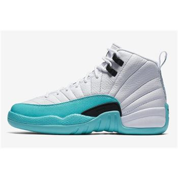 Air Jordan 12 GS Light Aqua White/Light Aqua-Black 510815-100