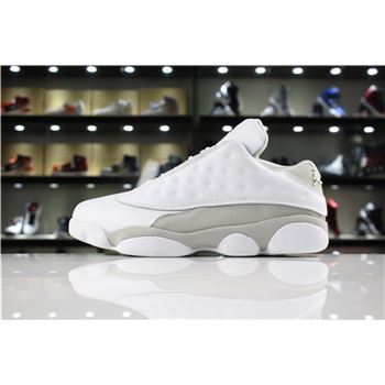 New Air Jordan 13 Retro Low Pure Money White/White-Metallic Silver 310810-100