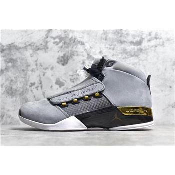 Air Jordan 17 Trophy Room Cool Grey/Metallic Gold-Black AH7963-023