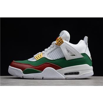 Air Jordan 4 GG White/Green-Red-Gold 308599-111