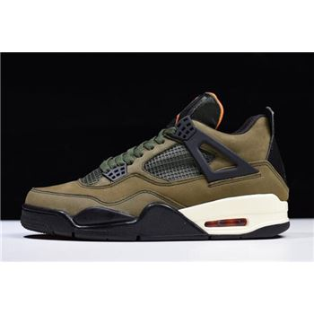 Air Jordan 4 Undefeated Olive Green/Black-Orange For Sale