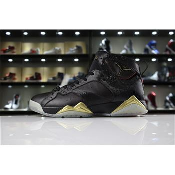Cheap Mens Air Jordan 7 Doernbecher Black Gold For Sale