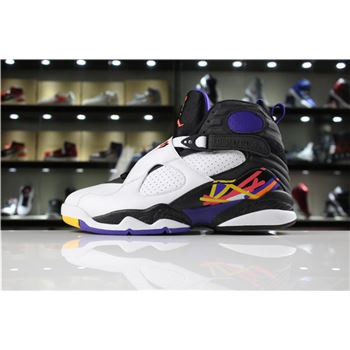 New Air Jordan 8 Retro Three-Peat White/Infrared 23-Black-Bright Concord 305381-142