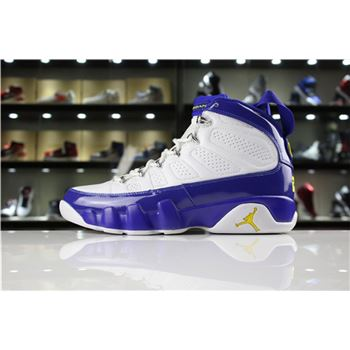 Cheap Air Jordan 9 Retro Kobe Bryant PE White/Tour Yellow-Concord For Sale