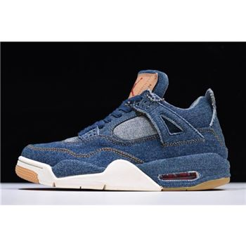 2018 Levi's x Air Jordan 4 IV Denim AO2571-401 For Sale
