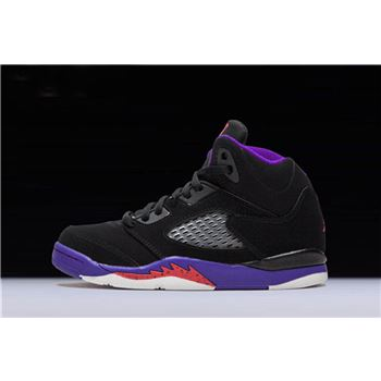 New Air Jordan 5 Retro Raptors Black/Ember Glow-Fierce Purple 440893-017