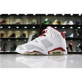 New Air Jordan 6 VI Hare White/Pure Platinum-Gym Red 384664-113