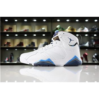 New Air Jordan 7 Retro French Blue White/French Blue-University Blue-Flint Grey 304775-107