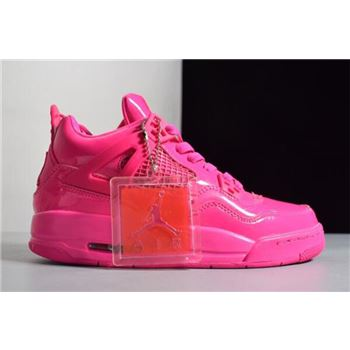Women's Air Jordan 4 Retro GS 11Lab4 Pink Patent Leather For Sale