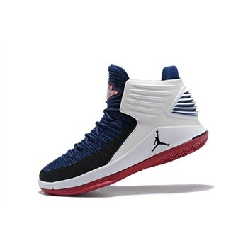 New Air Jordan 32 Cavs PE Navy/White-Red Men's Basketball Shoes