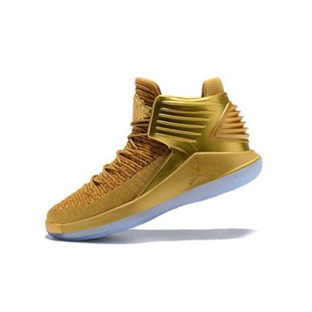 New Air Jordan 32 Metallic Gold Men's Basketball Shoes