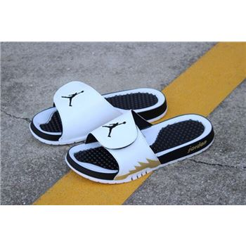 New Air Jordan Hydro 5 Retro Slide White/Metallic Gold-Black 555501-153