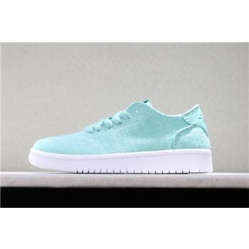 Kid's Air Jordan 1 Low x Levi's x Nike Air Vapormax Flyknit Mint Green/White Shoes