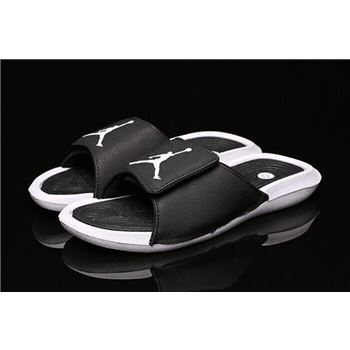 New Air Jordan Hydro 6 Retro Sandals Black/White Men's and Women's Size 881473-032