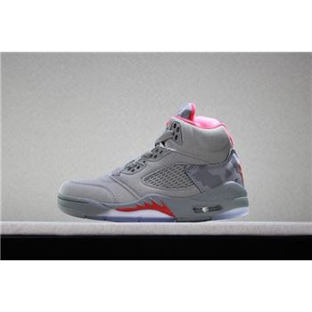 Kid's Air Jordan 5 Retro Camo Dark Stucco/University Red