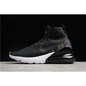 Nike Air Footsacpe Magsta Flyknit 270 Black/Multi-Color/White AA6560-001