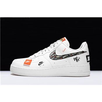 Nike Air Force 1 '07 Premium Just Do It White/Black-Total Orange AR7719-100