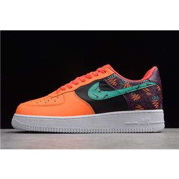 Nike Air Force 1 Low What The 90s Bordeaux/Hyper Jade-Total Orange-Black AT3407-600