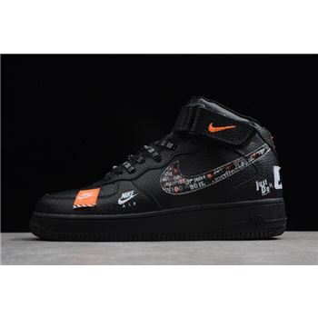 Nike Air Force 1 Mid Just Do It Black/Total Orange-White For Sale