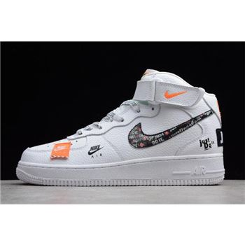 Nike Air Force 1 Mid Just Do It White/Black-Total Orange BQ6474-100